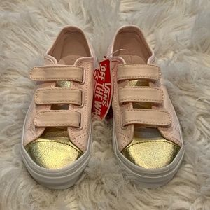 Girls pink and gold Vans size 12